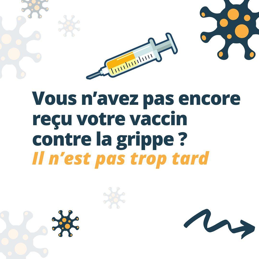 Vous n'avez pas encore reçu votre vaccin contre la grippe ?