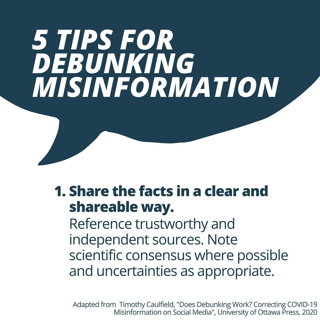 5 tips for debunking misinformation