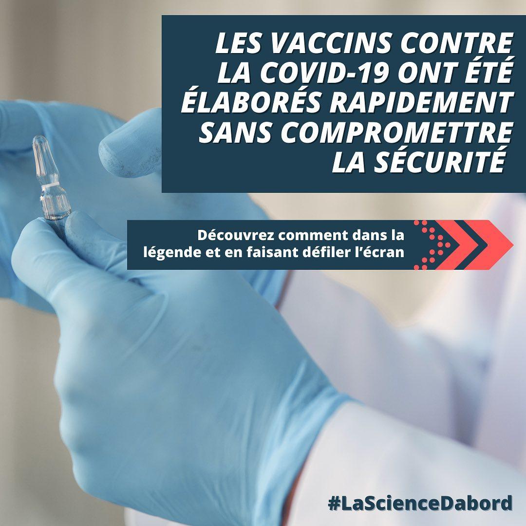 Les vaccins contre la COVID-19 ont été conçus rapidement sans compromettre la sécurité.