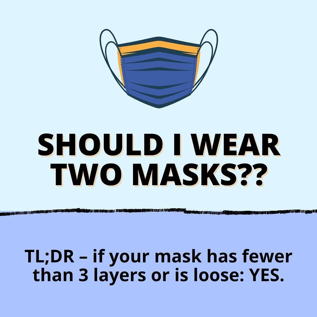 How many masks should I wear?