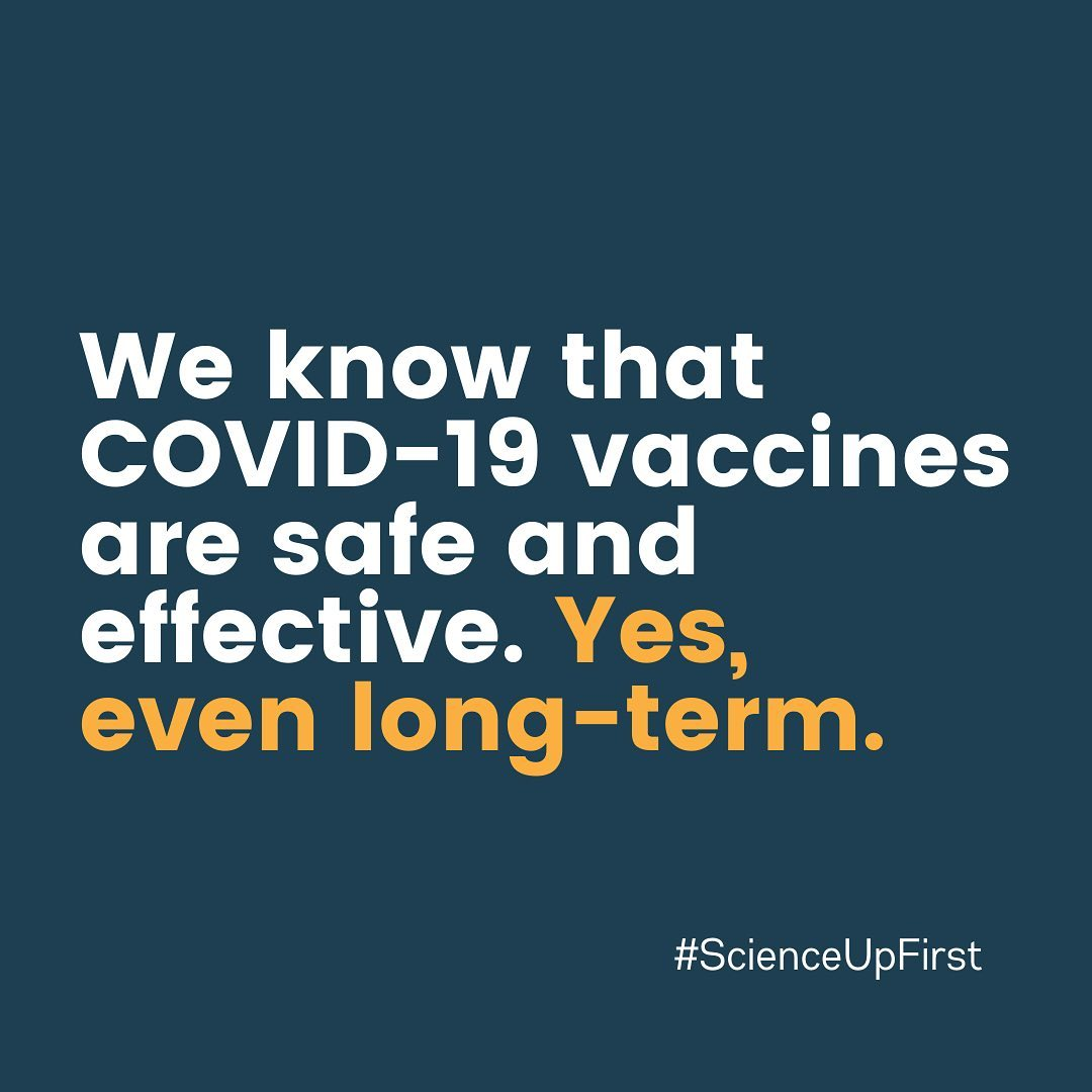We know that COVID-19 vaccines are safe and effective