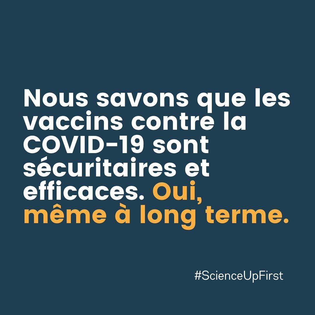 Nous savons que les vaccins COVID-19 sont sûrs et efficaces.