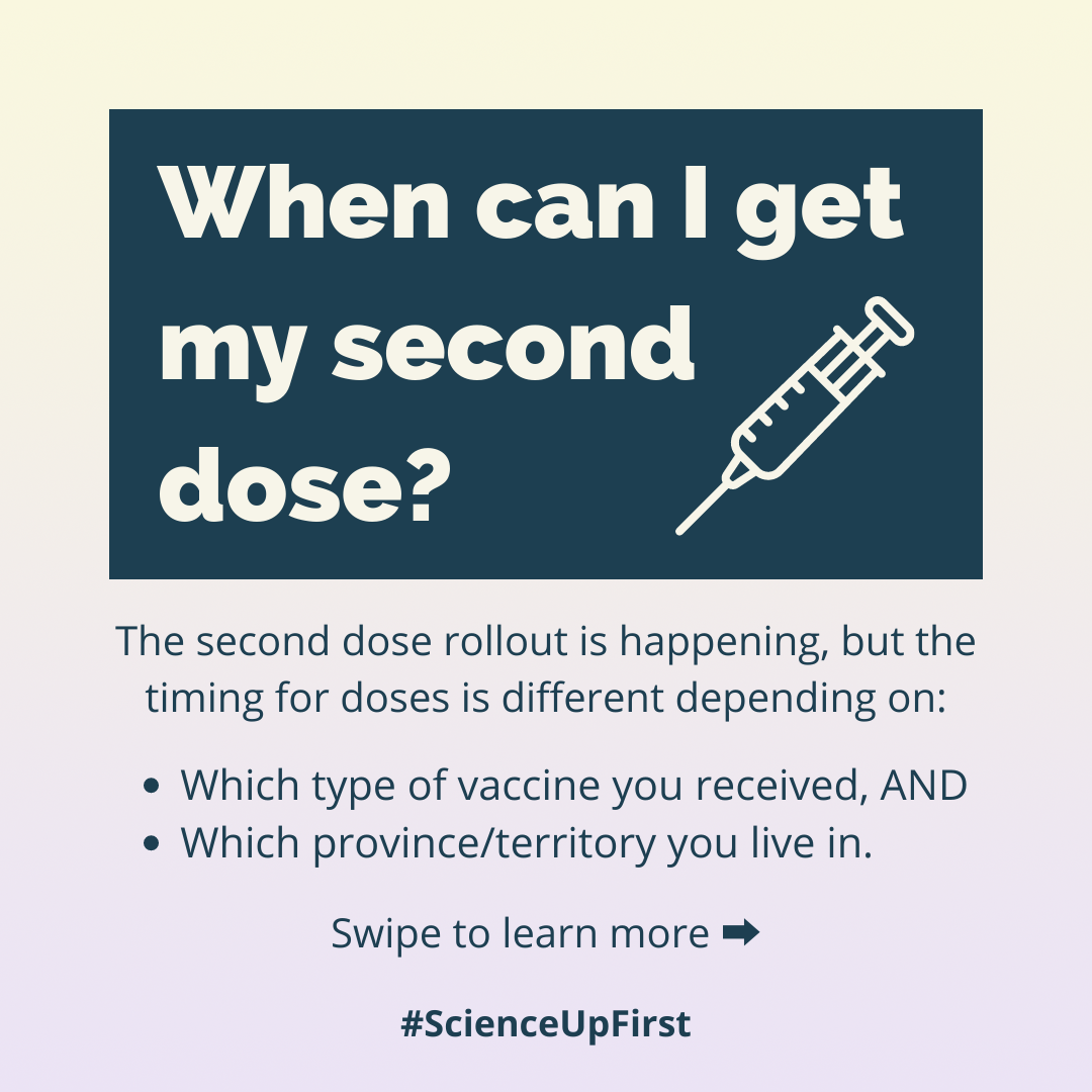 When can I get my second dose?