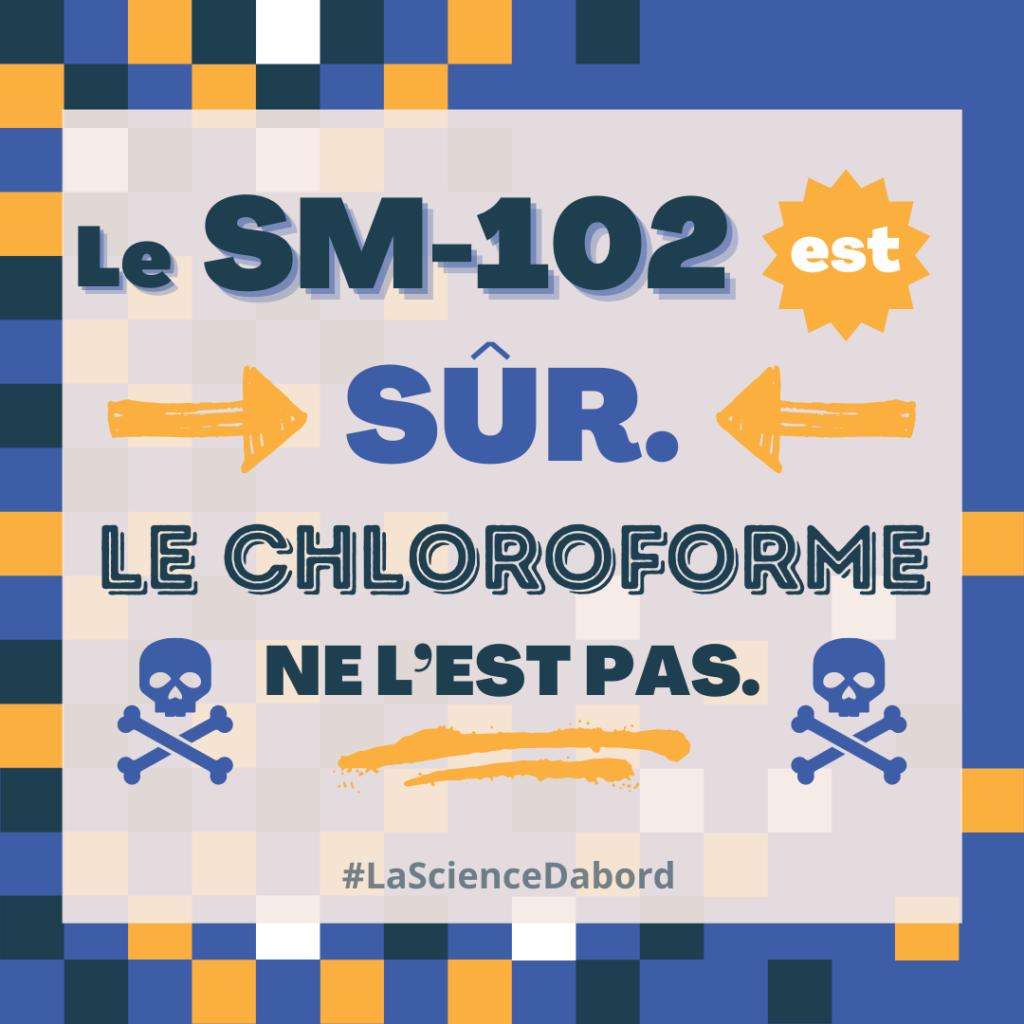 Le chloroforme est dangereux, le vaccin de Moderna ne l'est pas.