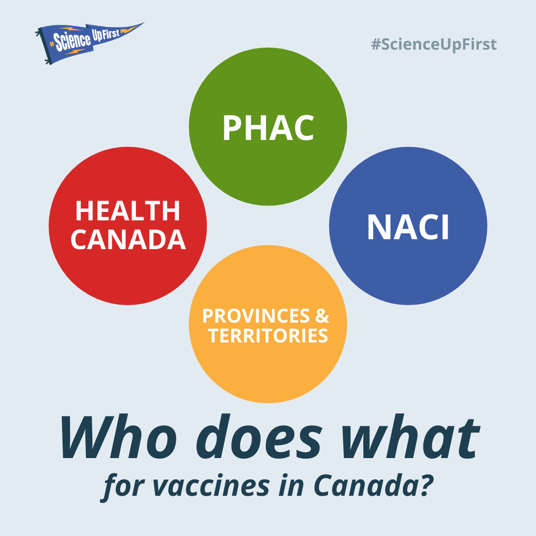Who does what for vaccines in Canada?