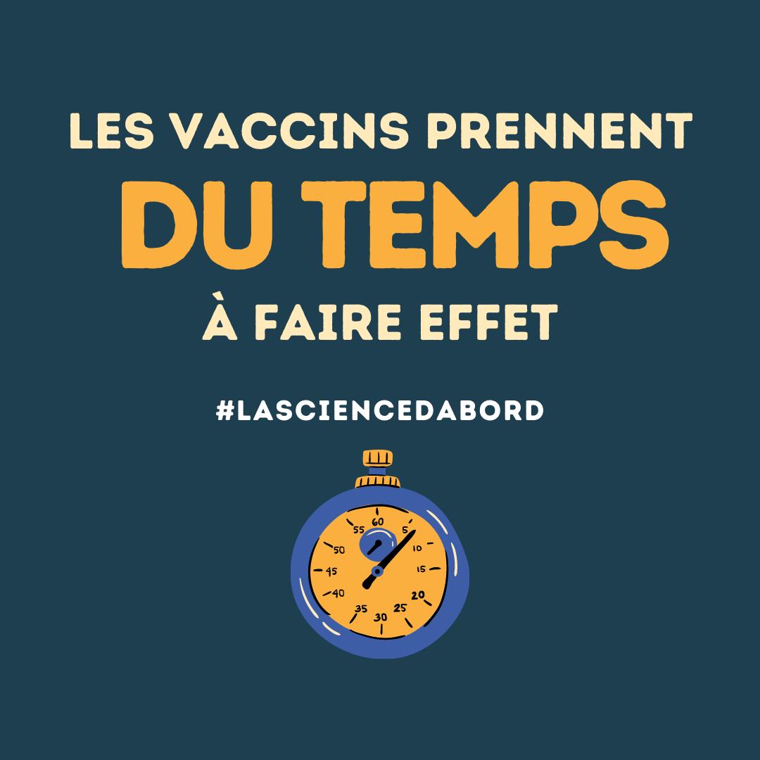 Les vaccins prennent du temps à faire effet