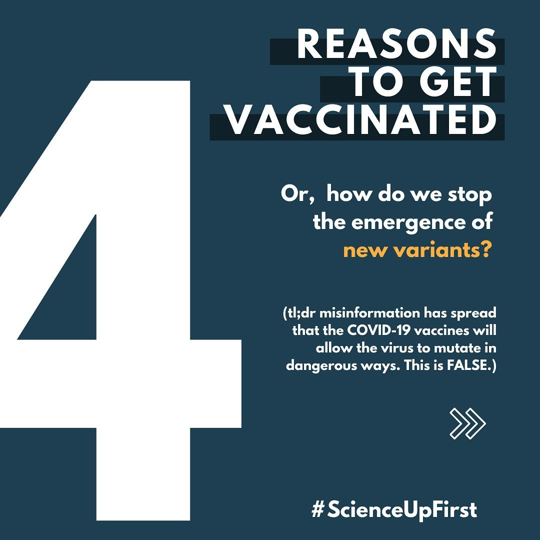 Four reasons to get vaccinated