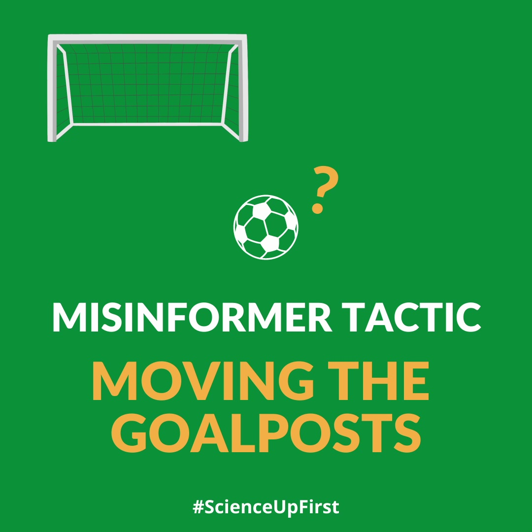 Misinformation Tactic – Moving the goalposts