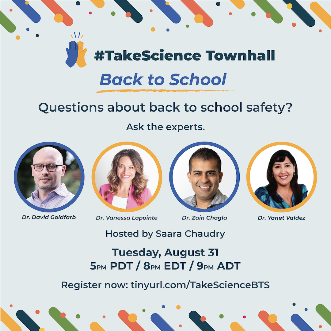 #TakeScience Town Hall Experts: August 31st