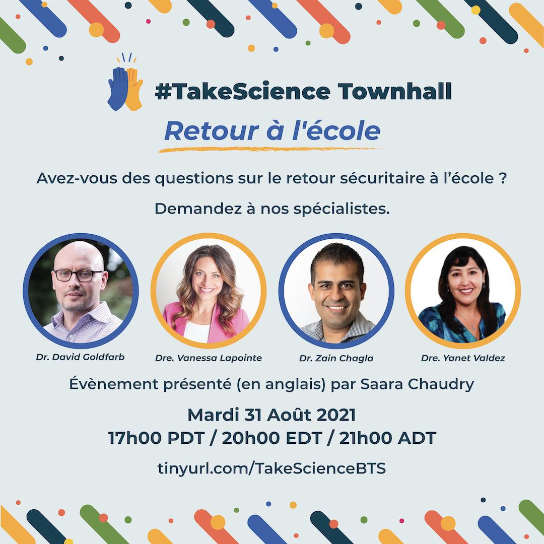 Experts au groupe de parole #TakeScience: le 31 août