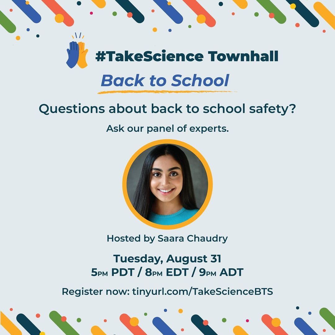 #TakeScience Town Hall: August 31st