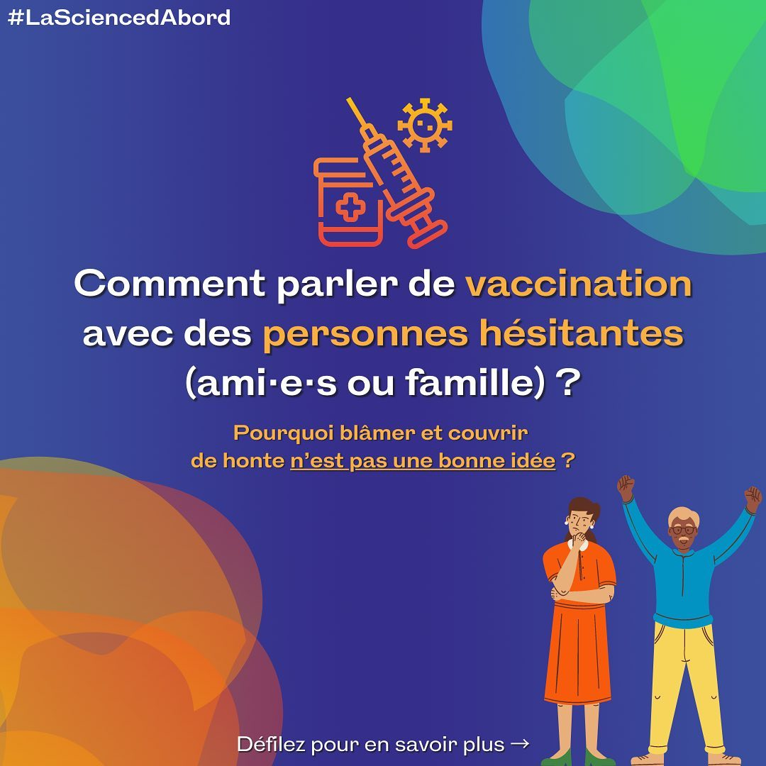 Comment parler de vaccination avec des personnes hésitantes?