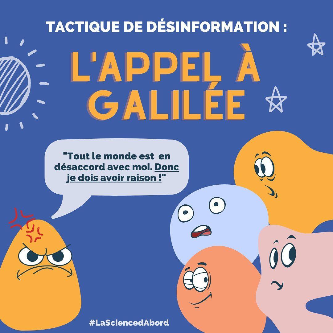 Tactique de désinformation: L'appel à Galilée