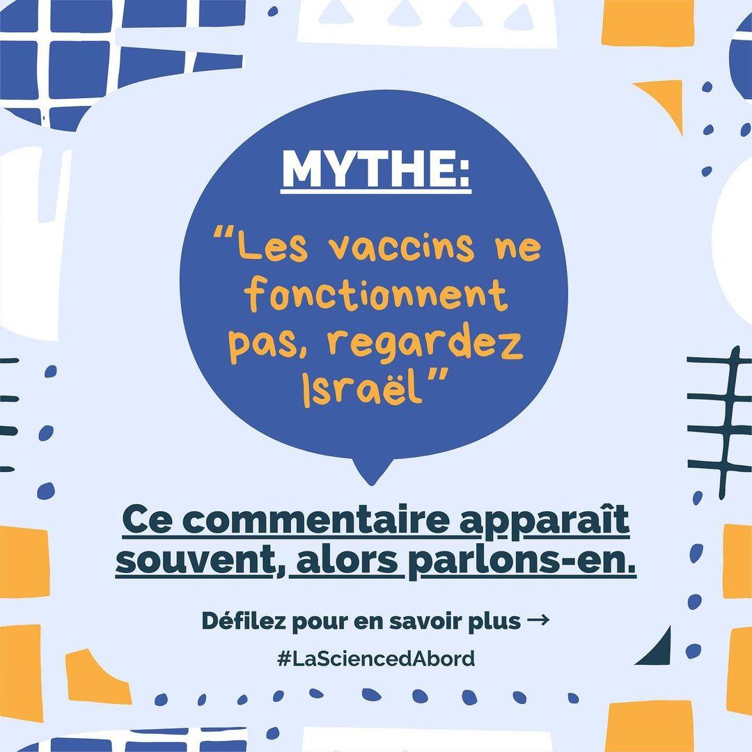 MYTHE: « Les vaccins ne fonctionnent pas, regardez Israël »
