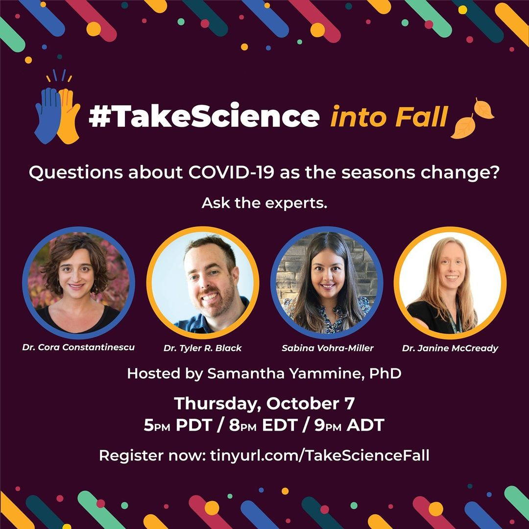 #TakeScience into Fall – Experts: October 7th